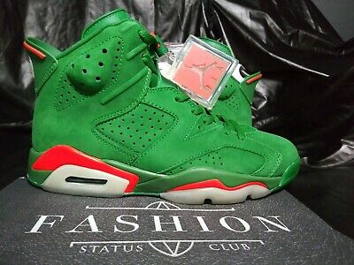 80c51bfa71bad7 Nike Air Jordan 6 Retro NRG G8RD Pine Green GATORADE New Mens Sz Shoe AJ5986 -
