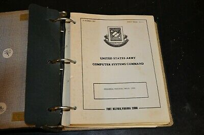 Vintage 1981 Army Computer System Command Programming Procedures Manual