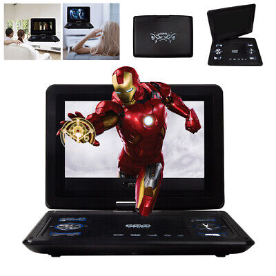 Portable 13.9'' Inch HD TV DVD Player 16:9 LCD 270° Swivel Screen 110-240V Black