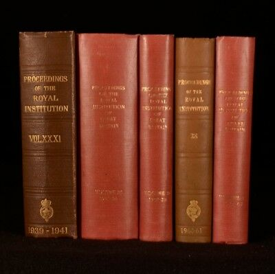 1941-1967 5vol Proceedings of the Royal Institution of Great Britain Science