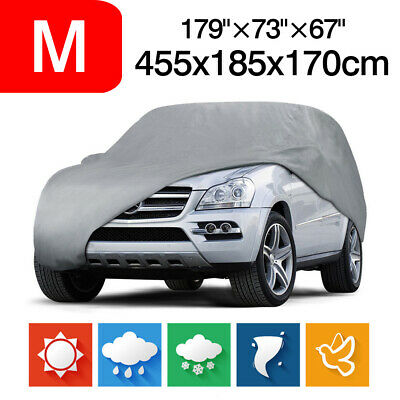 455CM Waterproof Full Car Cover Dust Sun Rain Resistant Protection For All SUV