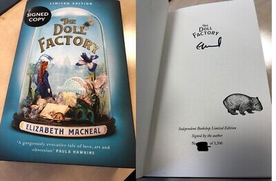 SIGNED Limited Edition The Doll Factory by Elizabeth Macneal UK HB 1st/1st