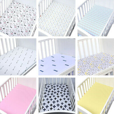 Multiple Styles Kids Baby Fitted Sheets Compatible knitted Bedside Crib Cotton