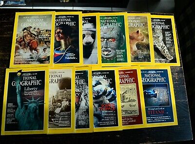 National Geographic Année 1986 complet en anglais