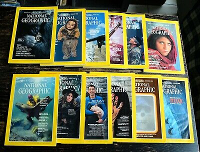 National Geographic USA Edition Année 1985 complet  with Afghan Girl en anglais