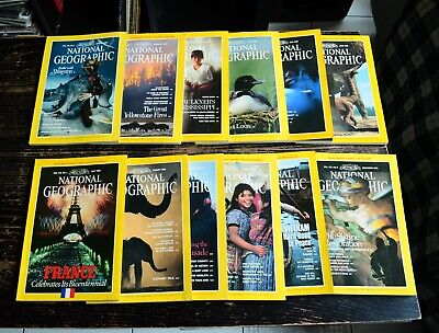 National Geographic USA edition Année 1989 complet en anglais english