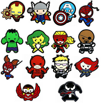 2015 Disney Marvel Kawaii Art Collection Mystery Pouch Set of 14 Pins