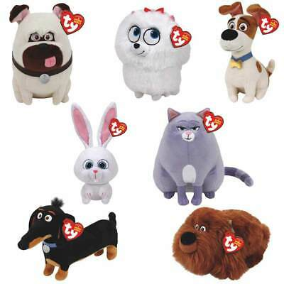 Ty Secret Life Of Pets Beanies Soft Toy-Duke, Buddy, Chloe, Max, Gidget, Mel Pug