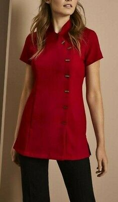 Beauty, Hairdressing, Asymmetrical Tunic, Red , Simon Jersey FD3310 SIZE 20 + 14