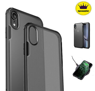For iPhone XR XS Max X Case 11 Pro Shockproof Clear Transparent Protective Cover