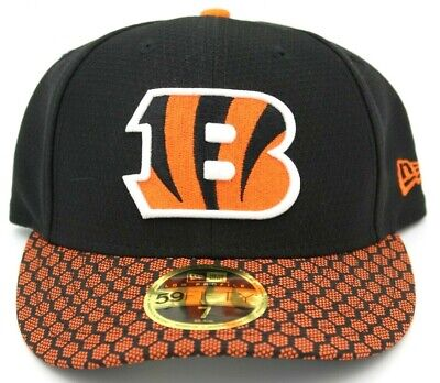 6b6fc075caf401 NFL Cincinnati Bengals 59Fifty Fitted Hat, Size 7, Black, Football Cap  Sports