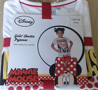 Disney Minnie Mouse Girls Short Pyjamas/Pj's  4-6 Years  Tested Quality!!