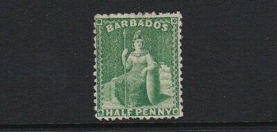 Barbados 1875 SG67 1/2d bright green - mint hinged £90