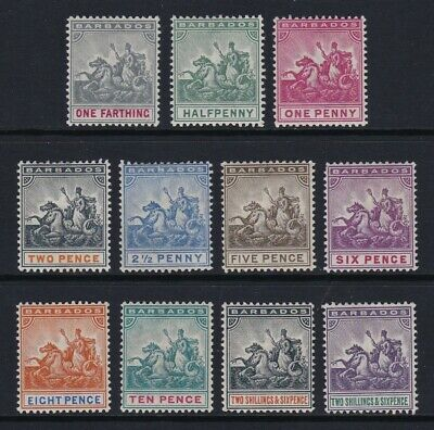 Barbados 1892-1903 set of 11 - lightly mounted / mounted mint £250