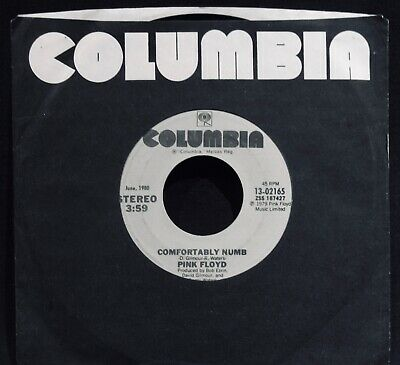 PINK FLOYD:  Comfortably Numb 45~David Gilmour~Scarce COLUMBIA Hall Of Fame 45