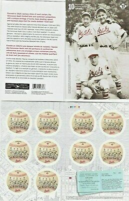 "2019 Canada 🍁 ASAHI BASEBALL - booklet of 10 ""P"" stamps mint 🍁  NEW ISSUE"