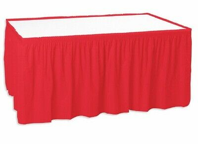 Shirred Pleated Trade Show Table Skirt for 6' Table - Unprinted