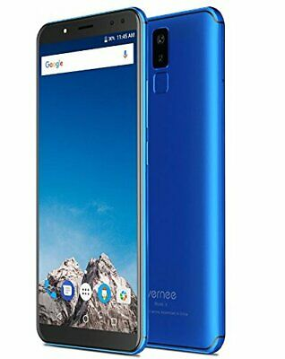 Vernee X Android Smartphone 6 Inch 2k 4gb Ram 64gb Memory Face Id Octa Core Blue