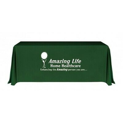 Custom Printed Trade Show Table Cover (6' Table)