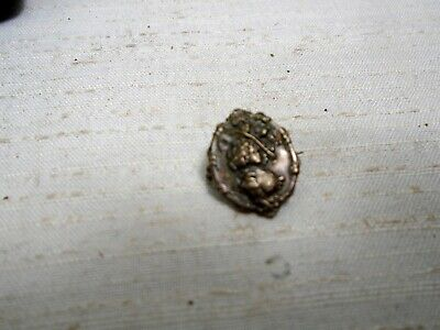 Antique Victorian Lingerie Pin Lady Bouffant Hair & Hat Collar Pin Embossed