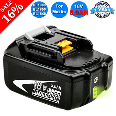 5.0Ah 18V For Makita BL1850 REPLACE LXT Battery BL1860 BL1830 with LED indicator