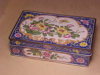 Beautiful Antique Chinese Export Enamel Dresser Box