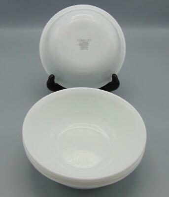 "4 Corning Ware Corelle Winter Frost White Round 6"" Cereal Bowl Lot"