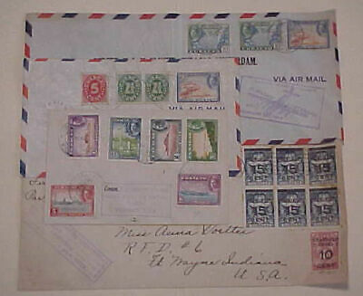 Curacao  4 Diff.  Flight Covers 1929,1943,1945,1948