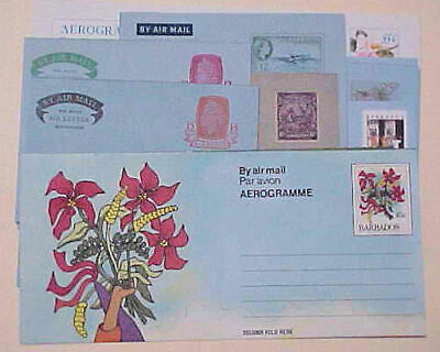 British Colonies & Territories Ref218 1963 Barbados Air Letter By Air Mail Stamps