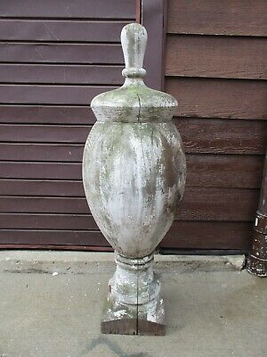 Antique Wood Drug Store Apothecary Finial Architectural Salvage 4' Feet 1800's