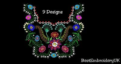 Machine Embroidery Designs - 9 Items Designs Included  - Special Offer