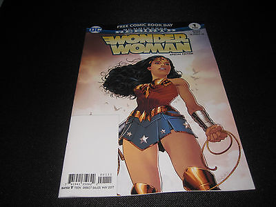 Free Comic Book Day 2017 Wonder Woman Special Edition #1 Unstamped Fcbd (New)