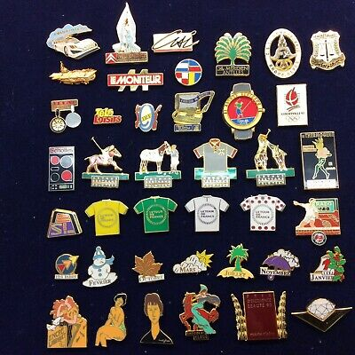 Pin's Folies Lot exceptionnel de  40 Arthus Bertrand Sports Garros Golf Charme