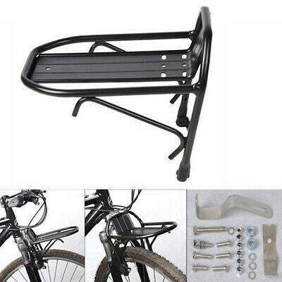 AU Front/Rear Mini Alloy Pannier Rack Carrier Brake Fit, Bike Luggage Bicycle