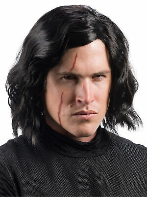Star Wars Episode VIII - The Last Jedi Kylo Ren Wig with Scar Tattoo