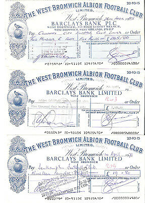 WEST BROMWICH ALBION CLUB CHEQUE to COVENTRY CITY FOOTBALL CLUB 1985