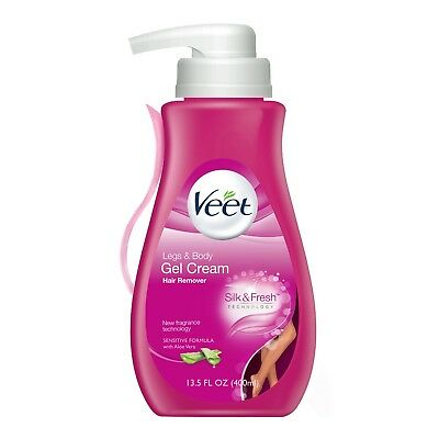 New Veet Aloe Vera Hair Remover Legs & Body Gel Cream 13.5 Oz.