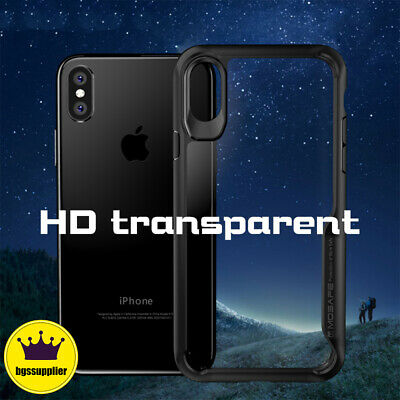 For iPhone XR XS Max X Clear Protective Back Case Shockproof TPU Bumper Cover