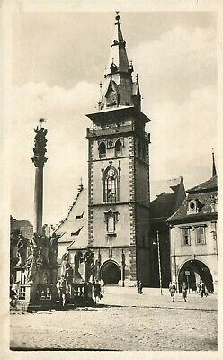 Czech Republic Chomutov City Tower Vintage Real Photo Postcard Rppc