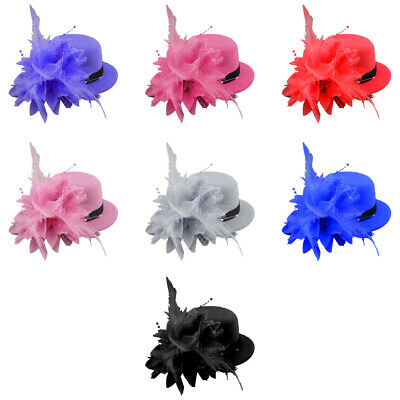 Feather Fascinator Headband Hair Clip Hat Weddings Ladies Day Races Royal Ascot