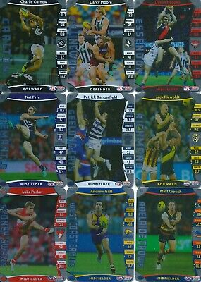 2019 afl teamcoach single silver card you choose your player