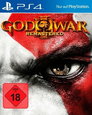 PS4  Sony Playstation 4 game God of War III: Remastered EN GER boxed