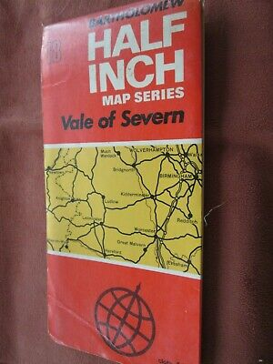 Bartholomew's Half inch  Road Map No 18 Vale of Severn   cloth 1970