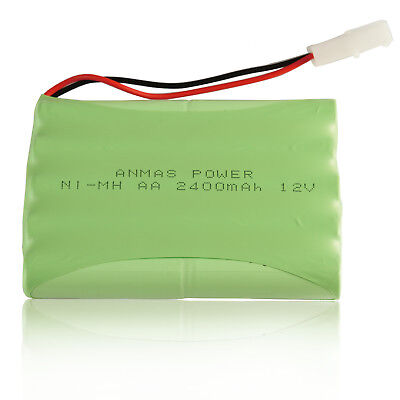 Anmas 12V 2400mAh Ni-MH Rechargeable Battery Pack Cell with Tamiya Plug Battery