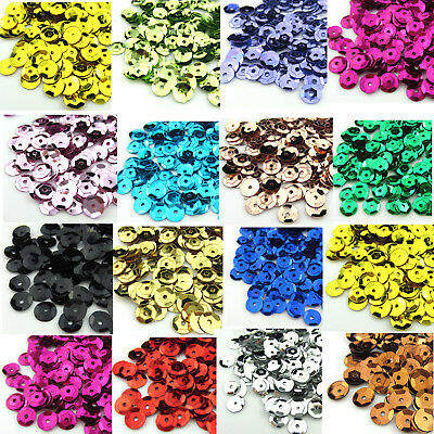 2000 x 6mm AB Oval Round Cup Sequins Paillettes Loose Sewing Wedding Art Craft