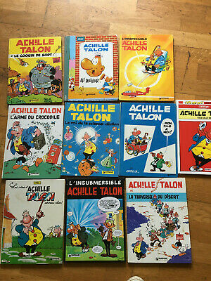 Lot De 10 Bandes Dessinees De Achile Talon Dont Editions Originales