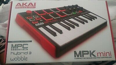 NEUF- Akai MPK Mini MK2 Laptop Keyboard & Drum Pads USB MIDI Controller