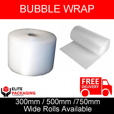 55M LENGTH SMALL BUBBLE WRAP ROLLS AVAILABLE IN 3 WIDTHS 300mm 500mm 750mm