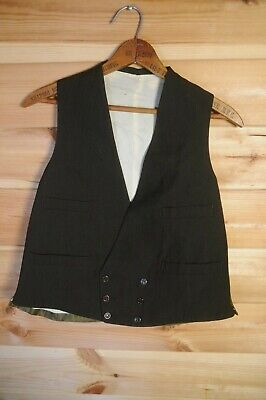 """Vintage Double Breasted Brown Suit Waistcoat Retro 40's Style 38"""""""
