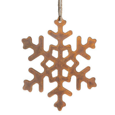 Rusty Tin Snowflake Cutouts